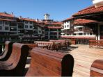 Sun terrace overlooking the Pirin mountains