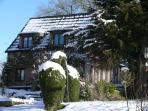 Winter in the forest is magical. Walks in the snow. Come back to a cosy, warm welcome & spa bath