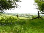 Drewsteignton village from Castle Drogo
