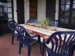 La terrasse privative couverte et clôturée