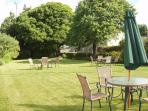 Summer dining in our lovely gardens
