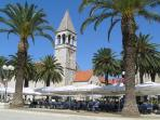 One of the open air restaurants around Kastela - this one is in the town of Trogir (15 mins by bus).