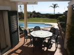 Charming al fresco dining area off the dining room and close to the kitchen & BBQ area