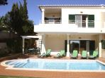 Beautiful end of row villa with private pool and garden and terrific sea views!