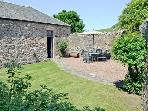 Totally enclosed south facing & private walled garden where young children shouldn't escape !