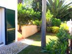 Pretty garden area at the front of the villa