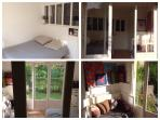 Main bedroom 9sqmtr. View on garden and trees