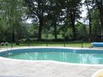 The solar heated shared pool