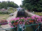 Canal Lock flowers