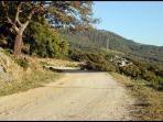La ruta de bicicleta cerca del Chaparro