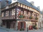 Josselin's half-timbered medieval buildings date from the 17th Century.