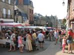 Josselin hosts a bustling street market each Saturday morning - a great place to stock up.