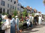 Lymington Market within a few metres of Skylarks