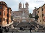 Spanish Steps - 10 minutes walking away