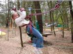 Lots of fun to be had in the forest adventure park just 5 minutes away