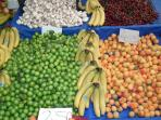 Fresh fruit and vegetables at the Saturday market