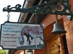 'Herzlich Willkommen' auf dem Haflinger-Ferienhof