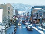 Main Street during a winter day. come enjoy the Park City winter wonderland!