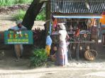 a beach stall at Castara