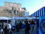 Castle terrace, with the famous Farmers Market on Saturday from 9AM till 2PM, is 1 minute away.