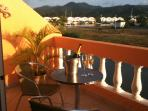relax with a glass of chilled chamapne on the balcony