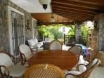 Spacious, shaded terrace - ideal for outdoor living