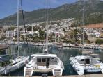 View of Kalkan from the harbour wall