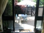Alfresco dining in your shelteredfully enclosed private garden