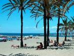 Puerto Banus beach - peaceful, unspoilt and so awarded 'Blue Flag' status