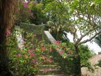 A colourful entranceway awaits you on arrival at Villa Cepaka,