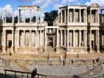Merida (30 min drive) with Roman amphitheatre, temples and Museum of Roman Art