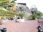 Marina walk under cliffs