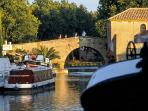 Canal du Midi at Le Somail 15 kms away