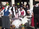 Local summer fete - French style Morris Dancers?