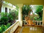 Relax in the swing in the verandah