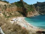 Beach at Cumbre del Sol (10 mins drive)