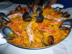 Worlds best Paella from Monika's- a 5 minute walk!