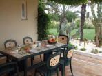 Shady terrace perfect for al-fesco dining