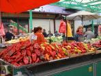 Bajloni farmers' market in our neighborhood