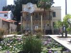 Sarona is a 140 year-old ex-Templar settlement in the heart of Tel-Aviv.  A 15 min walk from the apt