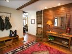 Foyer with Coat Bench, Storage, & Coat Rack