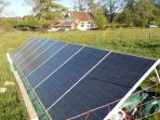 Our mini solar farm provides all the electric & hotwater for the property,we are completely offgrid