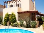 Villa Alexandra and pool with BBQ area
