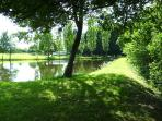 Another stunning view across our private lake from the opposite corner