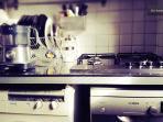 Particolare fornelli ed elettrodomestici cucina