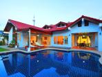 4 bed room luxury villa with very large private salt water swimming  pool