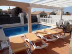relax by the pool whilst the kids have fun