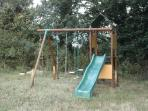 Swingset and sandpit are great for children