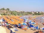 Enjoy a day at one of many blue flag beaches
