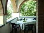 Balcony ideal for eating 'al fresco'